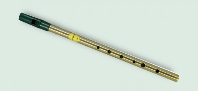 Feadog brass D tin whistle